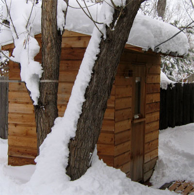 Backyard Sauna Plans the boulder sauna [design]—how to build a finnish sauna: cedar, kits